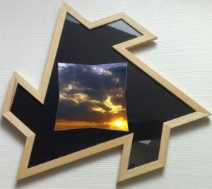cadre photo en forme d'hélice